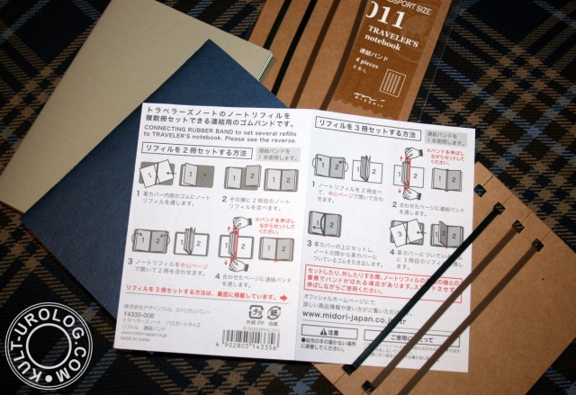 passport_size_midori_traveler's_notebook_refills_connecting_rubber_how_to